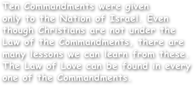 Ten Commandments were given